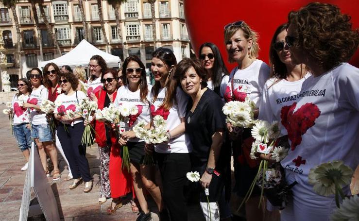 Soraya Sáenz de Santamaría arranca en Málaga su campaña para presidir el PP
