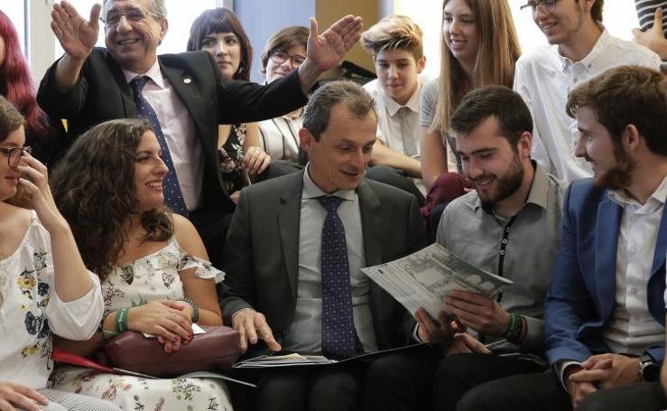 La visita en fotos del ministro de Ciencia, Pedro Duque, a la Universidad de Málaga