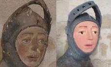 La restauración del San Jorge de Estella de Navarra, el nuevo 'Ecce Homo'