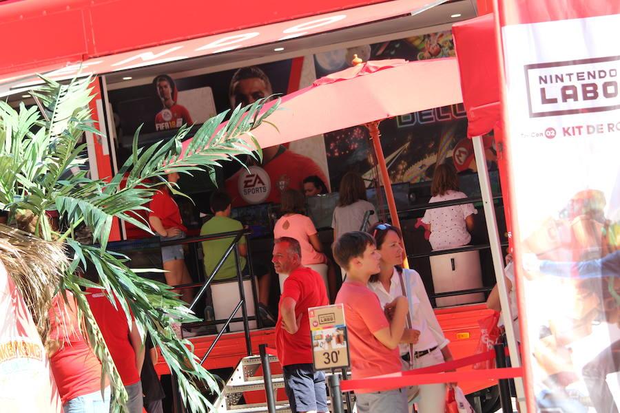 Los videojuegos de Nintendo salen a la calle en Málaga