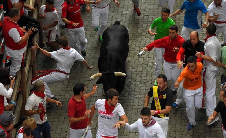 El Puerto de San Lorenzo estrena los encierros de San Fermín