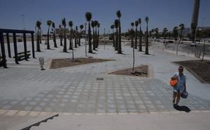 Costas finaliza el tramo de 90 metros de la ampliación del paseo de Poniente de Málaga