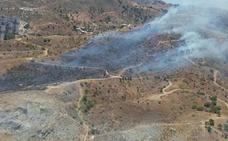 Extinguido el incendio declarado en el paraje de La Virreina, en Málaga capital