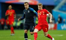 Francia-Bélgica, en imágenes