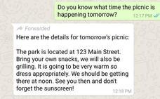 WhatsApp te avisará al recibir un mensaje reenviado