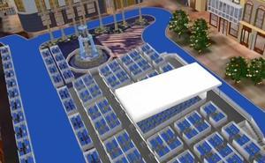 Recreación en 3D de la propuesta de nuevo recorrido para la Semana Santa Málaga