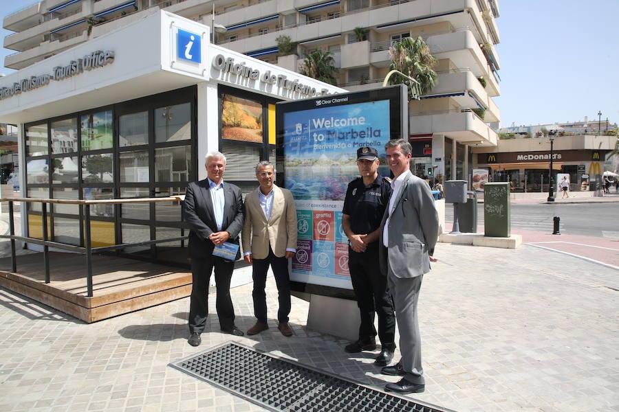 Marbella activa una campaña contra las actitudes incívicas en la calle durante el verano