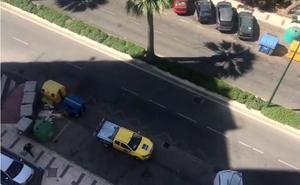 Vídeo | Vista desde el balcón donde fue rescatada la niña de 5 años en Málaga