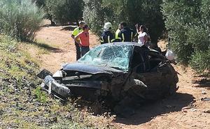 Nueve heridos en una colisión entre dos turismos en la A-384 de Antequera