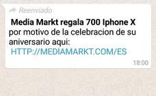 «Regalamos 700 iPhone X». Nueva estafa en nombre de Media Markt