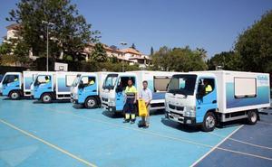 Marbella espera ahorrar 1,17 millones de litros de agua con los nuevos vehículos de limpieza