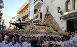 Málaga vive su fervor por la Virgen más marinera