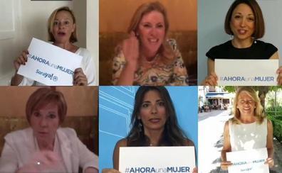 Un vídeo protagonizado por mujeres del PP pide el voto para Soraya Sáenz de Santamaría