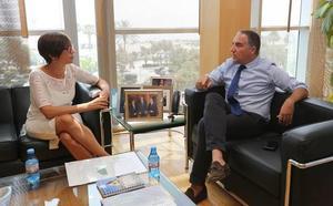 María Gámez y Elías Bendodo abordan los proyectos y asuntos de interés entre la Subdelegación y la Diputación de Málaga