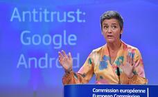 Bruselas redobla el pulso a Google y le endosa otra megamulta de 4.343 millones