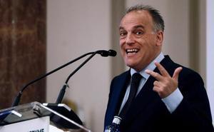 Tebas critica el trato fiscal a los futbolistas en España