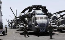 El gran portaaeronaves construido en memoria de la batalla de Iwo Jima visita Málaga