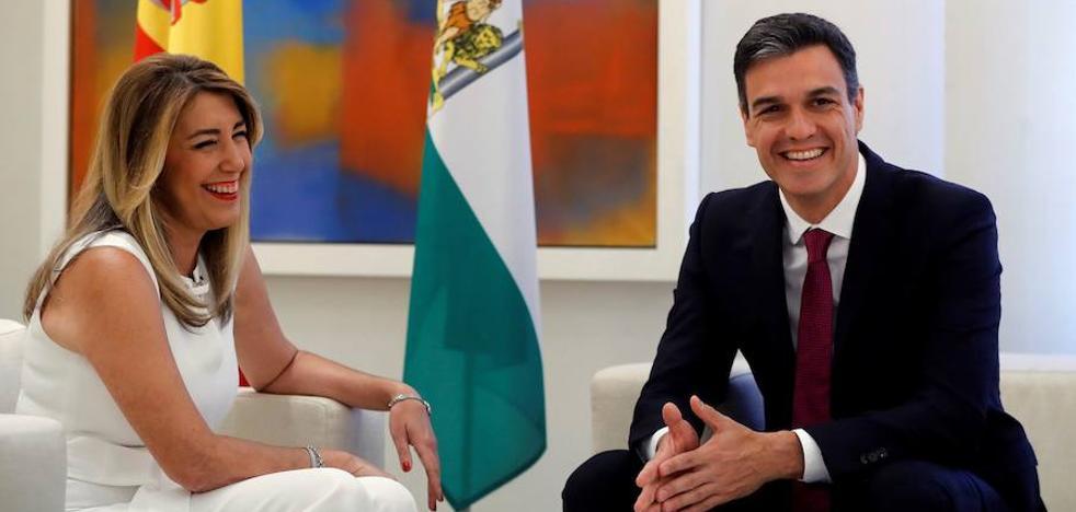 Susana Díaz arranca a Pedro Sánchez un plan de empleo para Andalucía supeditado al Presupuesto de 2019
