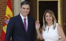 Susana Díaz confía en un gesto de Pedro Sánchez con Andalucía en su cita en Moncloa