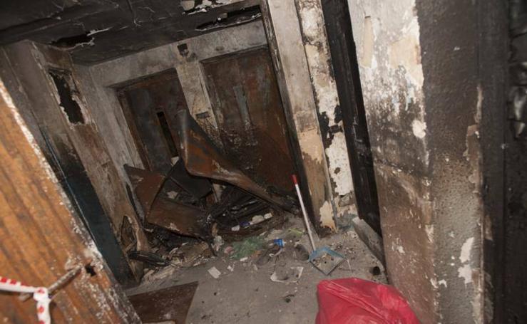 Estado del edificio a desalojar en calle Cabriel 27 tras sufrir un incendio