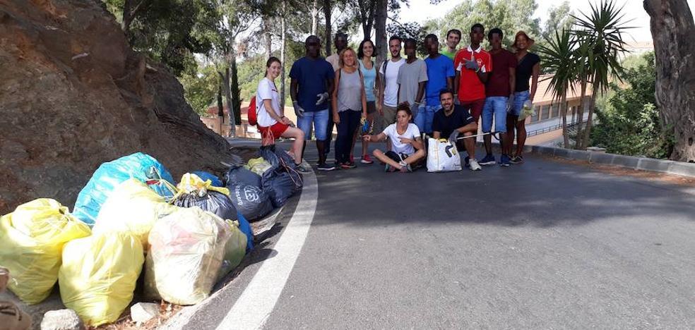 Limpian el Monte Victoria