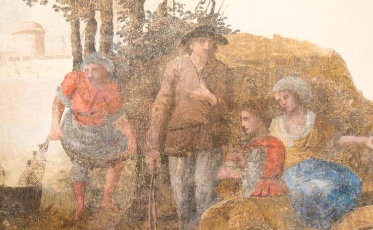 Hallan pinturas del siglo XVIII en una casona de la calle Álamos