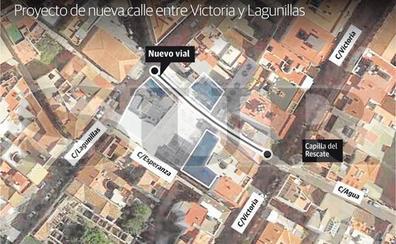 Un nuevo vial conectará las calles Victoria y Lagunillas a la altura de la capilla del Rescate