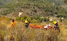 Rescatan a un senderista perdido en la ruta de la Cuesta del Cielo de la Sierra Almijara de Nerja