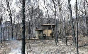 El fuego calcina 3.000 hectáreas en Valencia y sigue descontrolado por el viento