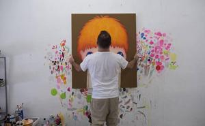 Javier Calleja convierte la pintura en instalación