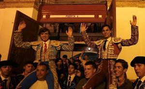 Jorge Martínez y Carlos Domínguez abren la puerta grande de La Malagueta