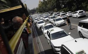 Los taxistas esperan una Feria de Málaga sin incidentes si no hay «provocaciones» de los VTC