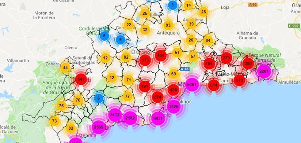 La provincia al detalle: Mapa de los alquileres vacacionales en todos los municipios