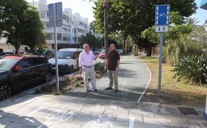 San Pedro estrena carril bici en la avenida del Mediterráneo