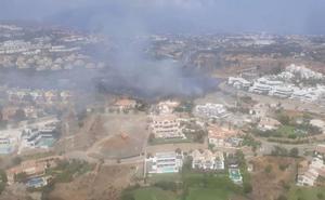 Controlado un incendio en el paraje La Alquería en Benahavís