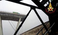Decenas de muertos tras el derrumbe de un viaducto atravesado por una autopista en Génova