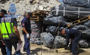 Detenidos en Málaga por almacenar grandes cantidades de material tóxico y contaminante