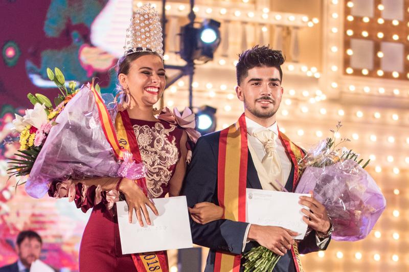 Paloma Burgueño Franco y Edgar Benítez Villodres, Reina y Míster de la Feria de Málaga 2018