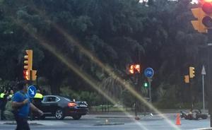 Herido un Policía Local camino del trabajo al arrollar su moto un coche VTC