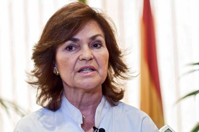 Carmen Calvo responde a Torra: «Con una frase inaceptable no se ataca al Estado»