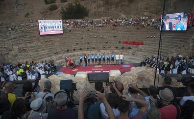El Teatro Romano de Málaga recibe al pelotón de La Vuelta