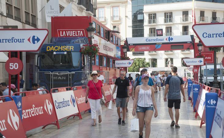 Así se prepara Málaga para recibir La Vuelta a España
