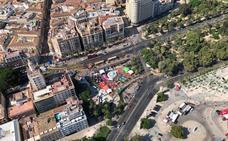 Vídeo | Así vimos la Vuelta en Málaga a vista de pájaro