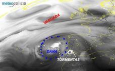 El paso de una Dana deja lluvia en varios puntos de Málaga