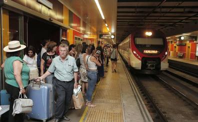 El Cercanías de Málaga es de los que más crecen en España a pesar de que no llega a Marbella