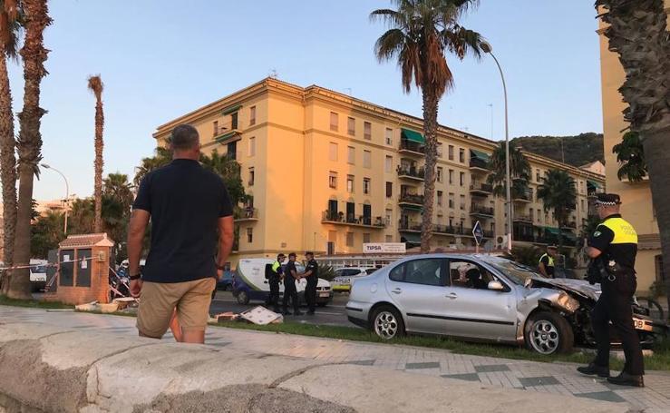 Accidente en el paseo marítimo Pablo Ruiz Picasso de Málaga capital