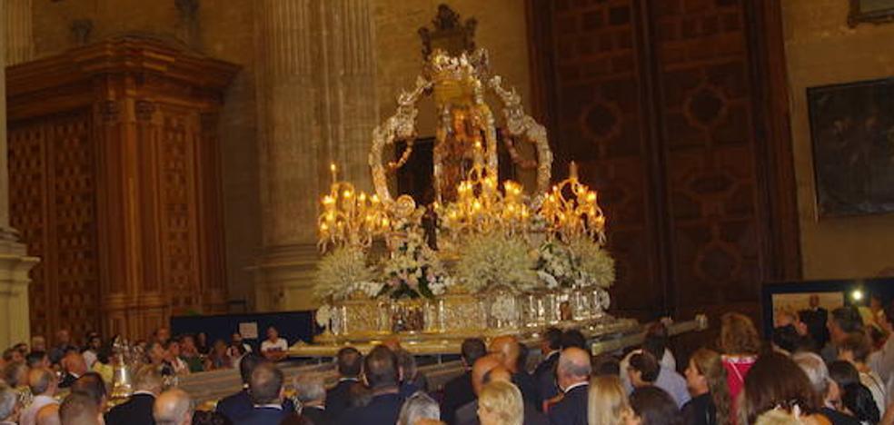 La lluvia impide la procesión de la Patrona de Málaga en su festividad