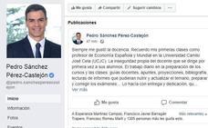 El mensaje de Pedro Sánchez en Facebook: «Las tesis se hacen gracias al esfuerzo de muchos»