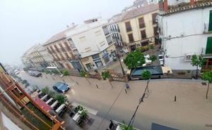 Una tromba convierte en ríos las calles de Archidona
