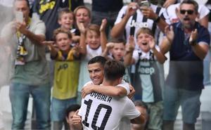 Cristiano se estrena como goleador en Italia